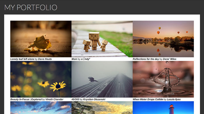 Jquery Image Portfolio