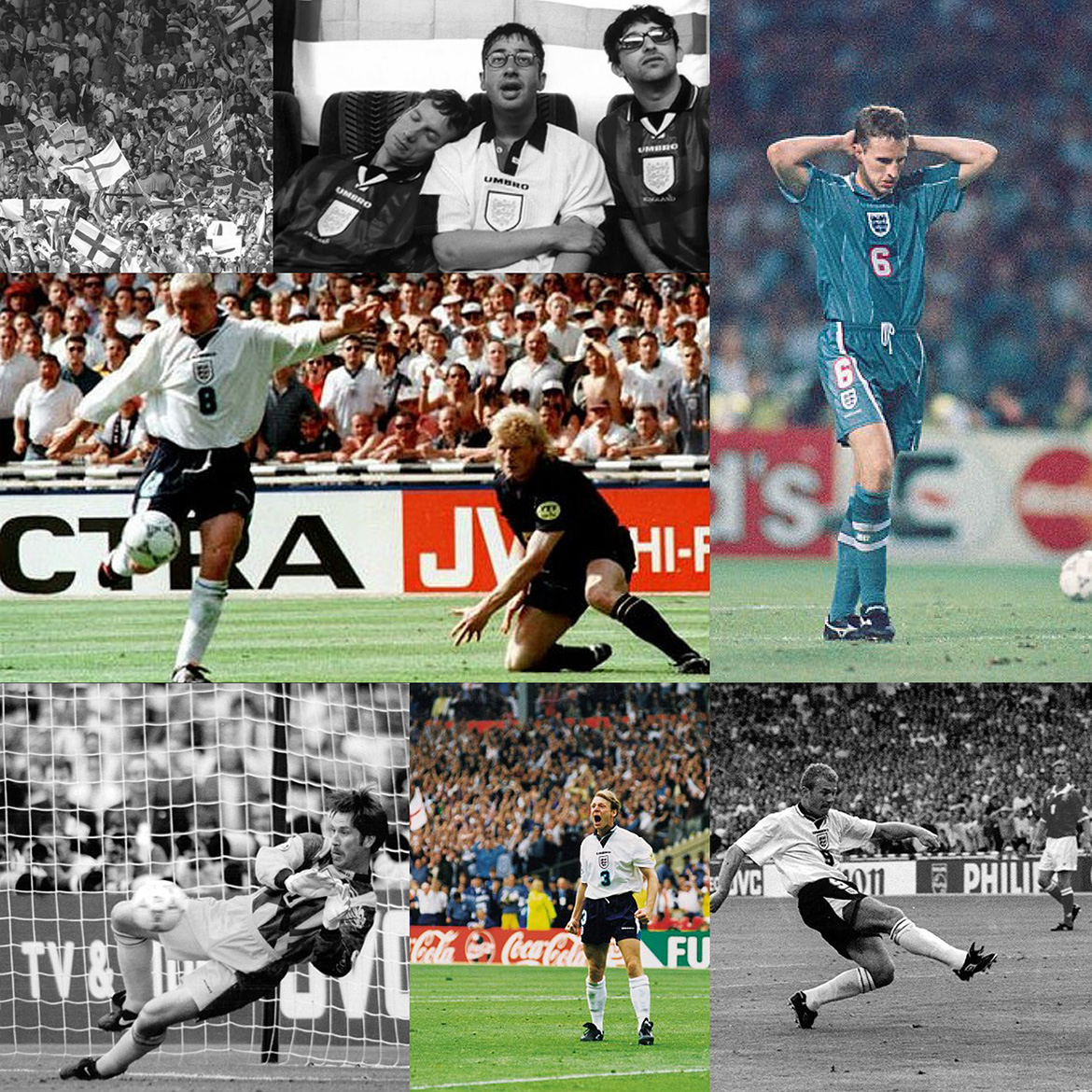 Collage of EURO96 photography
