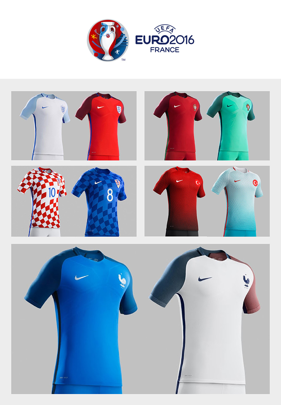 UEFA Euro 2016 - Top 5 Football Kit Designs