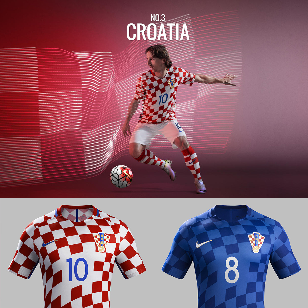 UEFA Euro 2016 - Croatia - Football Kit Design