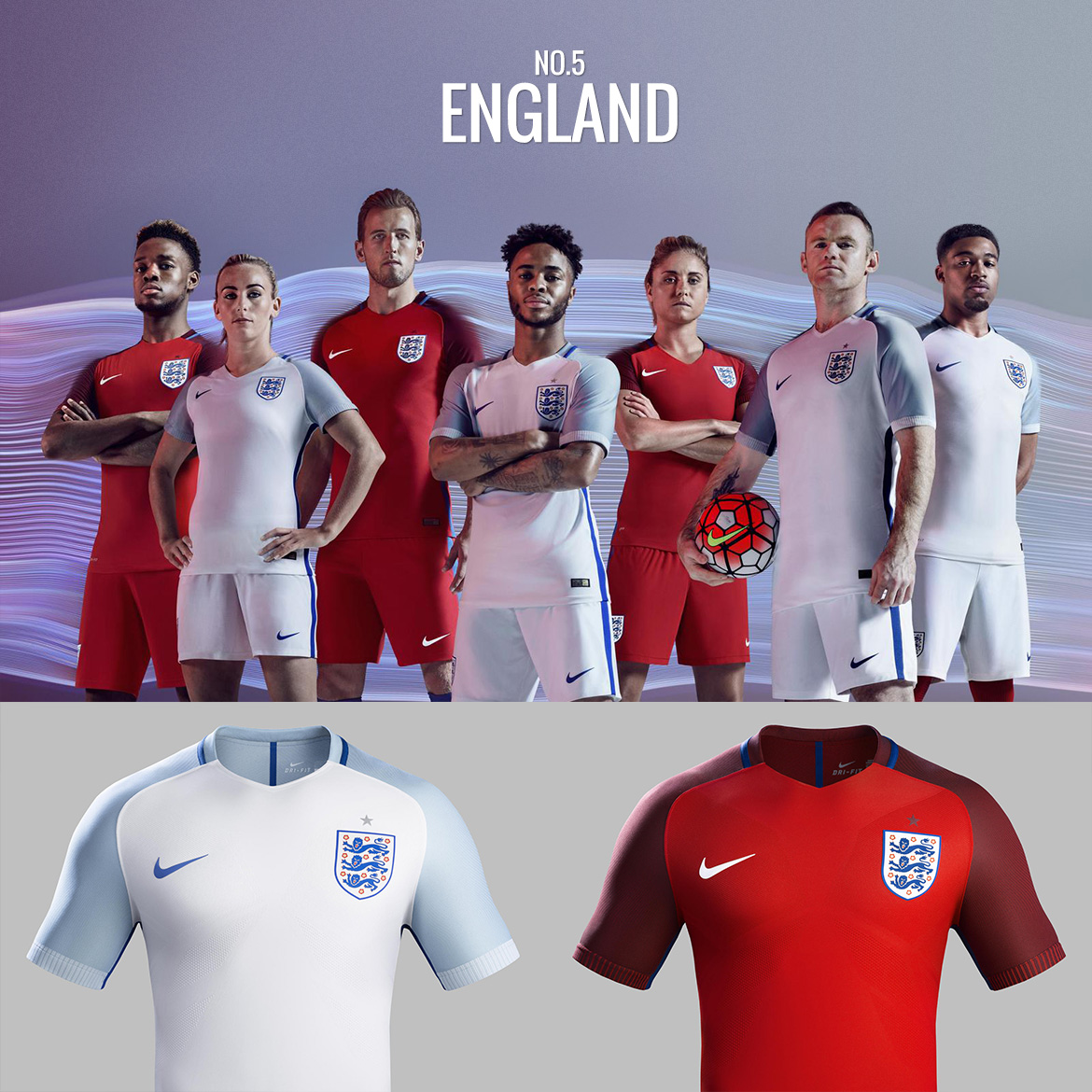 UEFA Euro 2016 - England - Football Kit Design