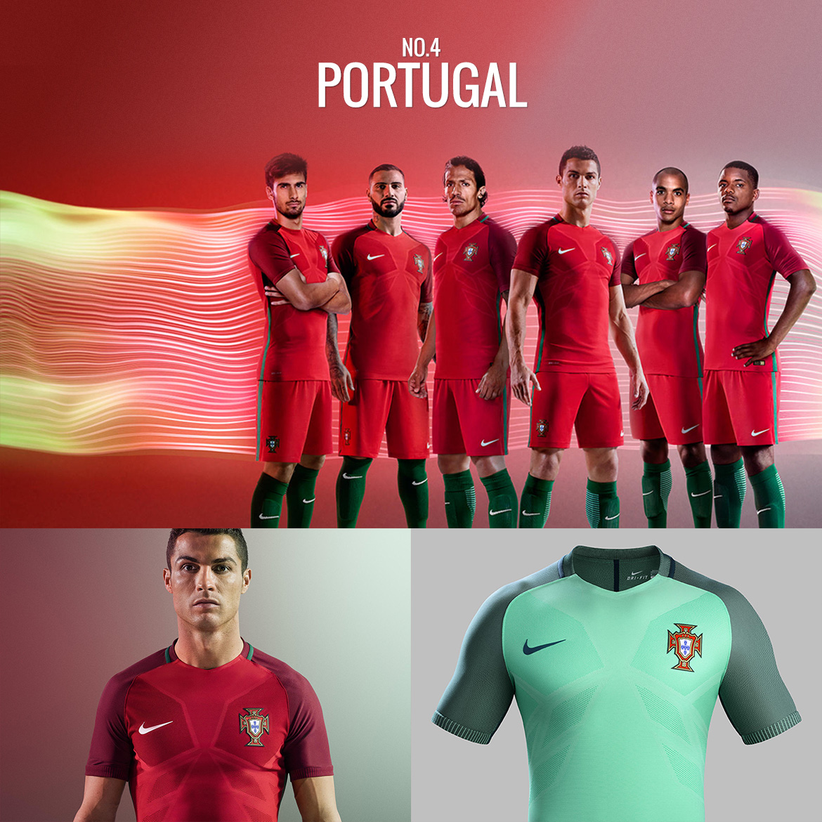 UEFA Euro 2016 - Portugal - Football Kit Design