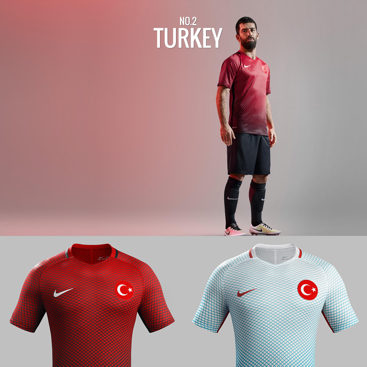 UEFA Euro 2016 - Turkey - Football Kit Design