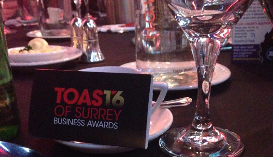 Toast of Surrey Business Awards 2016